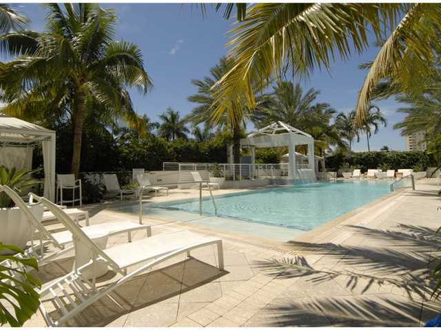 Pool at Sapphire Condo in South Florida waterfront views beach real estate